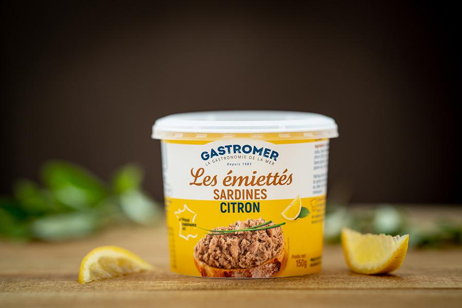 Packshot Emiettés de Gastromer Sardines Citron