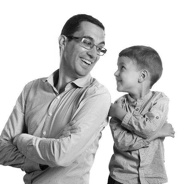 Portrait papa et son fils